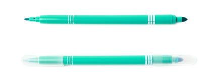 Felt-tip pen marker isolated. Felt-tip green pen marker isolated over the white background Stock Photo