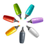 Felt tip pen. Set of colorful felt pen on a white background Stock Image