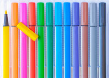 Felt-tip pens Royalty Free Stock Photo