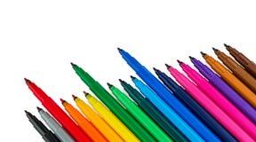 Felt-Tip Pens at Color Palette. Markers Isolated on White Background. Felt-Tip Pens at Color Palette. Felt Pen. RGB. Clipping Path stock photo