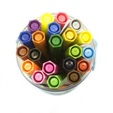Felt-tip pens in a glass Stock Photos