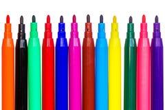 Felt tip pens isolated Royalty Free Stock Photos