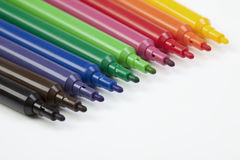 Felt-tip pens in a row Stock Photography