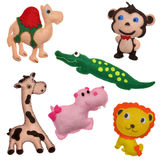 Felt toys safari animals Stock Photography