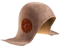 Felt women helmet hat Royalty Free Stock Images