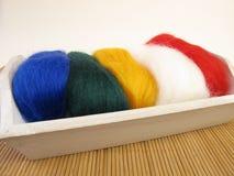 Felt wool for needle felting Royalty Free Stock Images