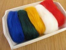 Felt wool for needle felting Royalty Free Stock Photography