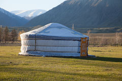 Felt Yurt. Such dwellings used nomads in Asia. Mongolians, Kazakhs and drugme Royalty Free Stock Image