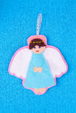 Felted angel Stock Photo
