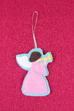 Felted angel Stock Images