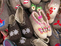 Felted boots Stock Photo