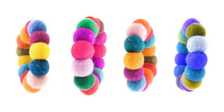 Felted bracelets Stock Photos