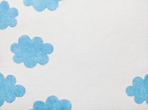 Felted Clouds Royalty Free Stock Image