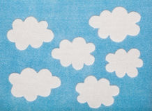 Felted Clouds Royalty Free Stock Photo