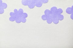 Felted Clouds Royalty Free Stock Images
