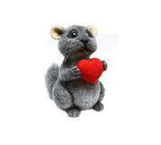 Felted cute chinchilla Stock Photos