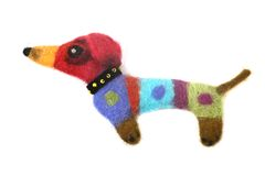Felted dog Royalty Free Stock Images