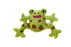 Felted frog Royalty Free Stock Image