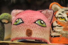 Felted hats Stock Images