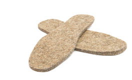 Felted insoles for shoes Stock Photography
