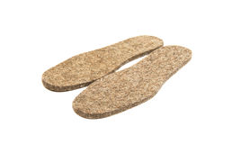 Felted insoles for shoes Royalty Free Stock Images