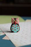 Felted owl. This owl made frow wool Royalty Free Stock Images