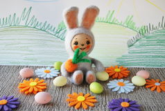Felted Rabbit Royalty Free Stock Images