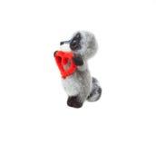 Felted raccoon Stock Photos