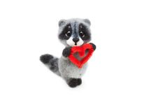 Felted raccoon Royalty Free Stock Photos