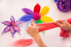 Felting activity Stock Images