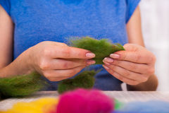 Felting activity Stock Photos