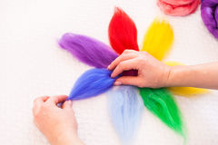 Felting activity Royalty Free Stock Images