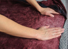 Felting wool by hand. Royalty Free Stock Images