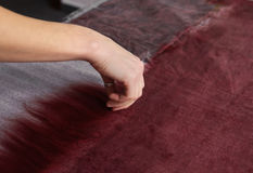 Felting wool by hand. Stock Photography
