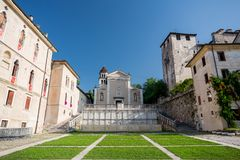 Feltre oud vierkant, Italië royalty-vrije stock foto