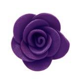 Feltro de Rosa Close-up da flor Isolado no fundo branco Foto de Stock
