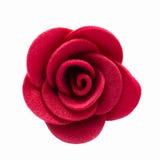Feltro de Rosa Close-up da flor Isolado no fundo branco Imagens de Stock Royalty Free