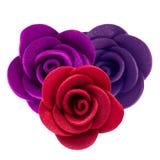 Feltro de Rosa Close-up da flor Isolado no fundo branco Fotos de Stock
