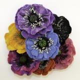 Feltro feito a mão, flores imagens de stock royalty free