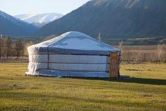 Feltro Yurt immagine stock libera da diritti
