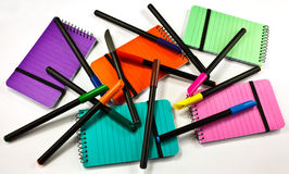 Felttips  notepads Stock Image