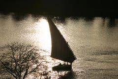 Feluca en el Nilo foto de archivo libre de regalías