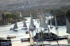 Feluca på Nilen Arkivbilder
