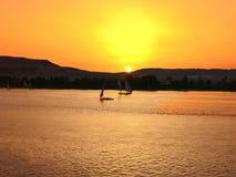 Felucas auf dem Nil stockfotos