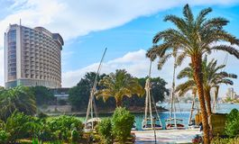 Felucca旅行在开罗,埃及 免版税库存照片