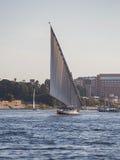 Felucca łódź na Rzecznym Nil Obraz Royalty Free