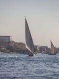 Felucca łódź na Rzecznym Nil Zdjęcie Stock
