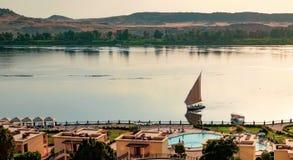 Felucca στο Νείλο, Αίγυπτος στοκ φωτογραφίες με δικαίωμα ελεύθερης χρήσης