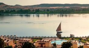 Felucca на Ниле, Египте стоковые фотографии rf
