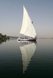 Felucca. Sailing at Nile River, Egypt (with polarizer filter Royalty Free Stock Photography
